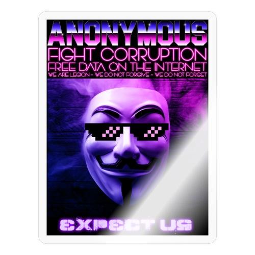Retro Wave Anonymous - Sticker