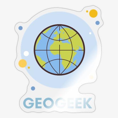 GeoGeek blue Globe T - Sticker