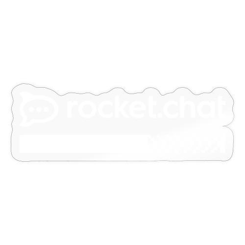 Community Designed White Logo T-shirt - Sticker