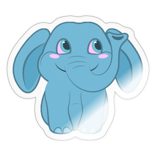 Baby Elephant Happy and Smiling - Sticker