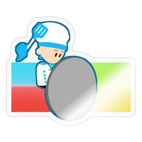 Muffin Fight - Blue Shirt - Sticker