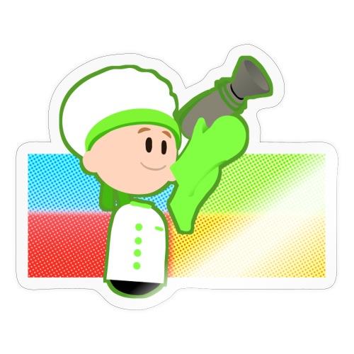 Muffin Fight - Green Shirt - Sticker