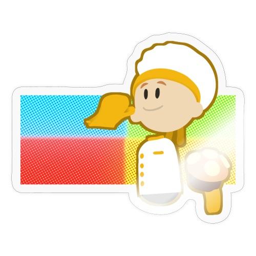 Muffin Fight - Yellow Shirt - Sticker