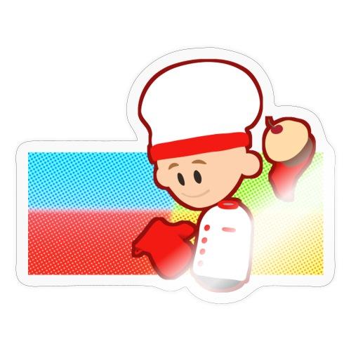Muffin Fight - Red Shirt - Sticker