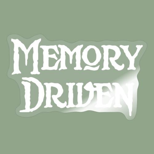 Memory Driven Logo White - Sticker