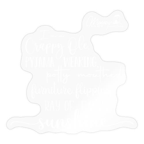Ray of Sunshine - White text - Sticker