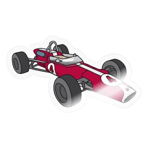 Red racing car, racecar, sportscar - Sticker