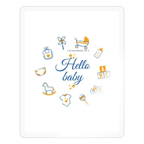 Hello baby - Sticker