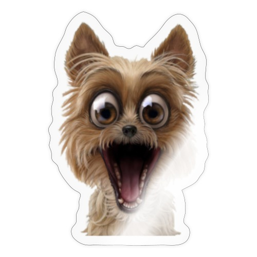 Dog puppy pet surprise pet - Sticker