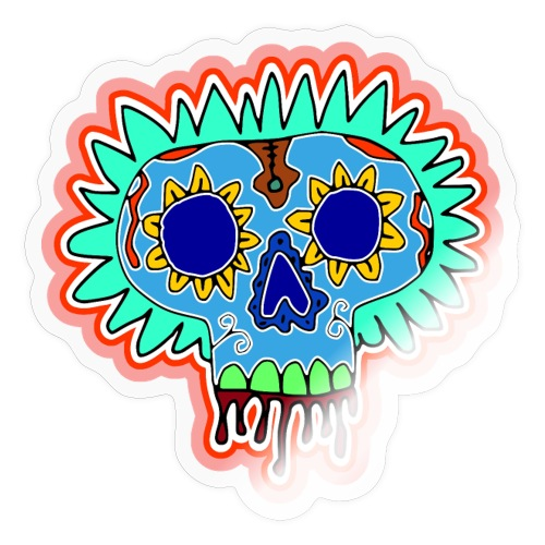 Hippy Día de Muertos - Sticker