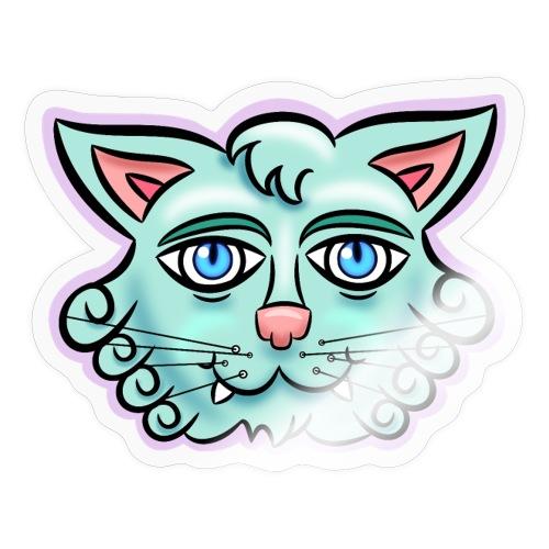 Happy Cat Teal - Sticker