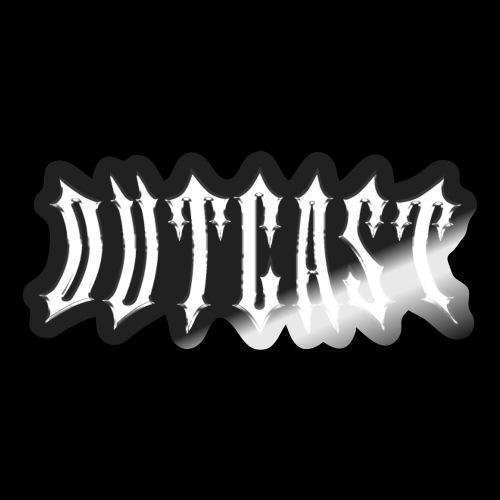 outcast metal logo - Sticker