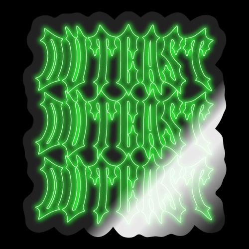 outcast x3 green - Sticker