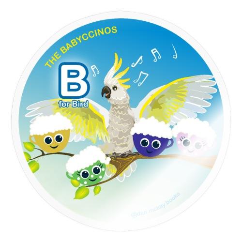 The Babyccinos Alphabet The Letter B - Sticker