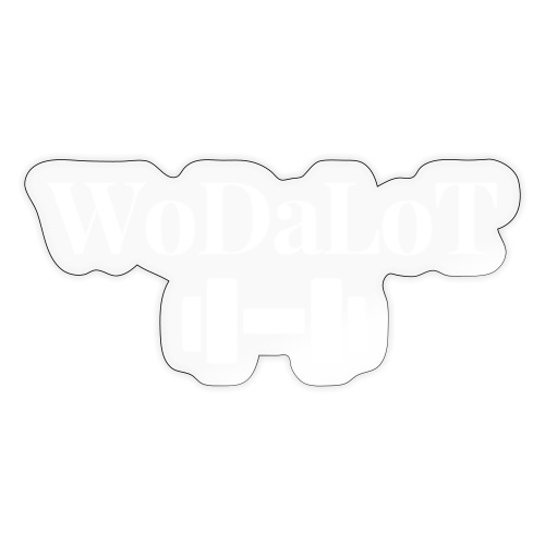WoDaLoT white logo - Sticker