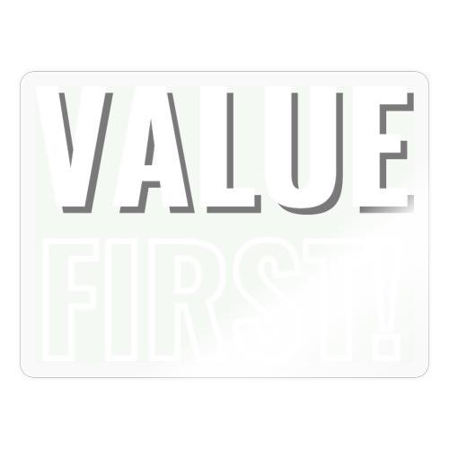 Value First Design - White Text - Sticker