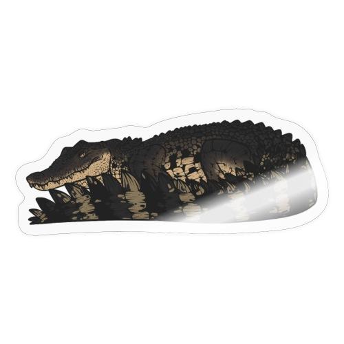 Estuarine Crocodile- Natural (Grey) - Sticker
