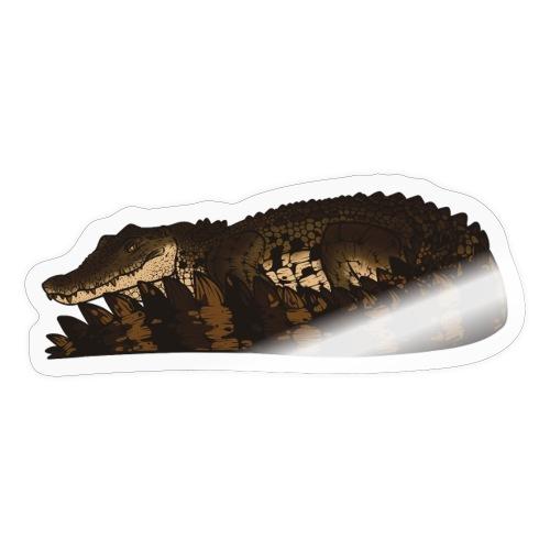 Estuarine Crocodile- Natural (Brown) - Sticker