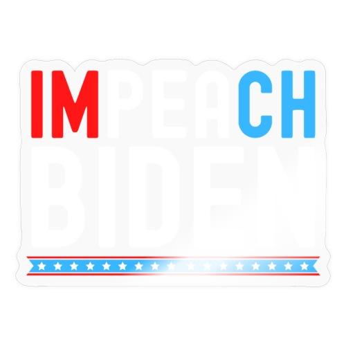 IMPEACH BIDEN, Red White & Blue - Sticker