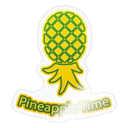 Swingers - Pineapple Time - Transparent Background - Sticker