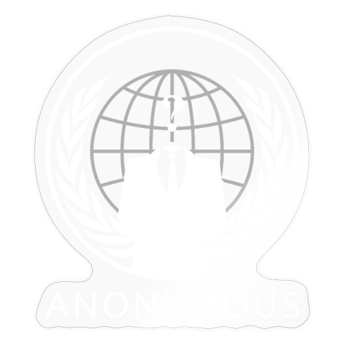 Anonymous 1 - White - Sticker