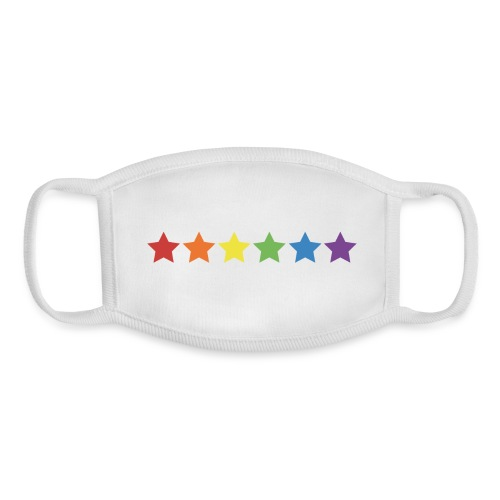 Pride Rainbow Stars - Youth Face Mask