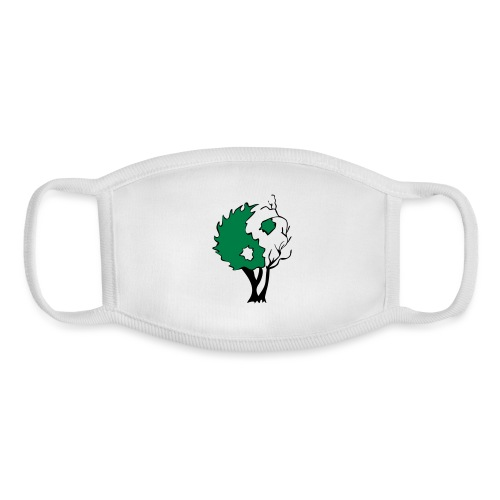 Yin Yang Tree - Youth Face Mask