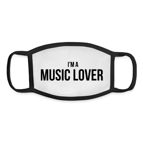Music Lover small - Youth Face Mask