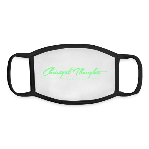 Christyal Thoughts C3N3T31 Lime png - Youth Face Mask