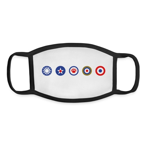 Axis & Allies Logos: China, USA, ANZAC, UK, France - Youth Face Mask