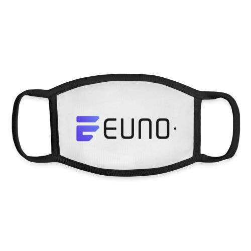 EUNO LOGO LANDSCAPE BLACK FONT - Youth Face Mask