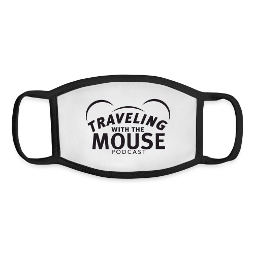TravelingWithTheMouse logo transparent blk LG Crop - Youth Face Mask