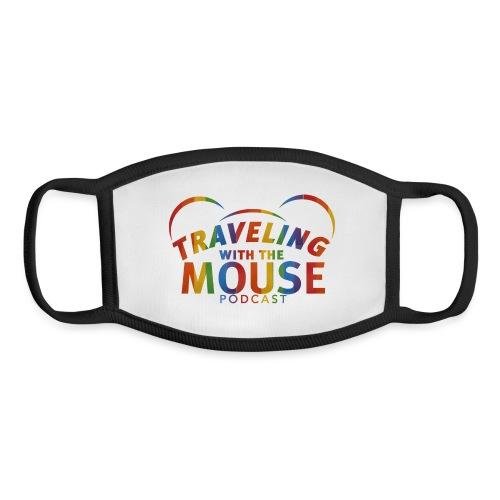 TravelingWithTheMouse logo transparent Rainbow Cr - Youth Face Mask