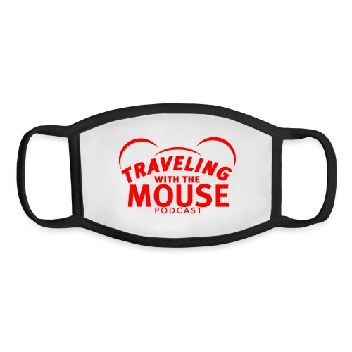 TravelingWithTheMouse logo transparent RED Cropped - Youth Face Mask