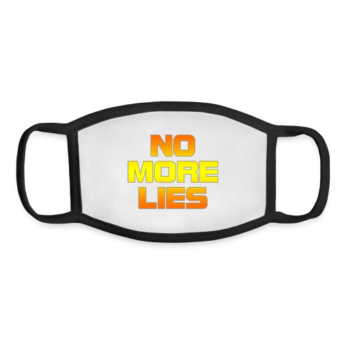 No more lies - Youth Face Mask
