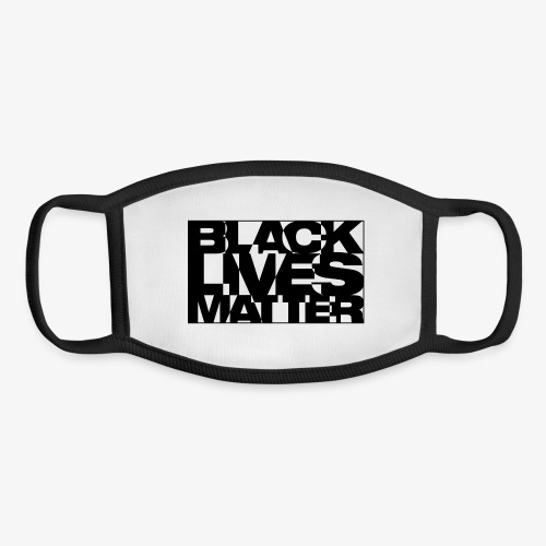 Black Live Matter Chaotic Typography - Youth Face Mask