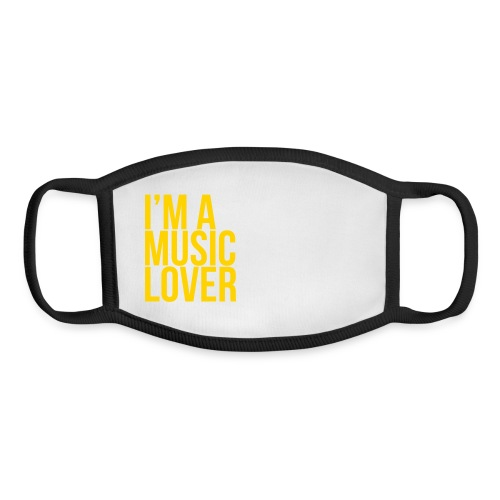 Music Lover big - Youth Face Mask