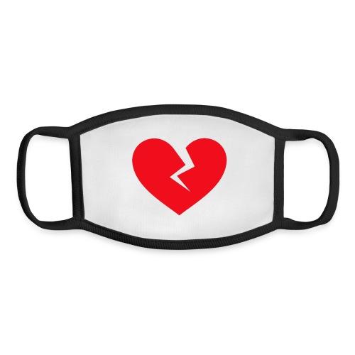 Broken Heart - Youth Face Mask
