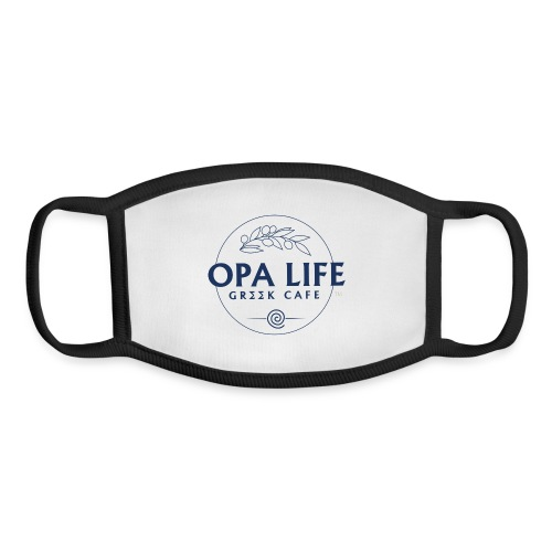 The Blank Opa life Blue outline 2 - Youth Face Mask