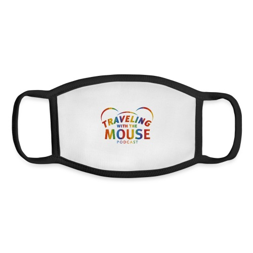 Traveling With The Mouse logo - Rainbow - Youth Face Mask