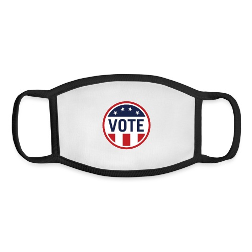 Vote Red White and Blue Stars and Stripes - Youth Face Mask