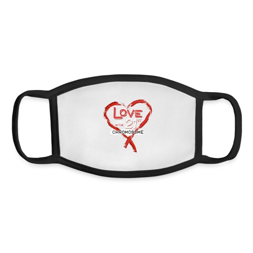 Down Syndrome Love (Red/White) - Youth Face Mask