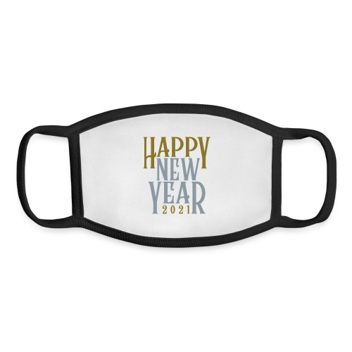 2021HAPPY NEW YEAR! in Metallic Gold & Silver - Youth Face Mask