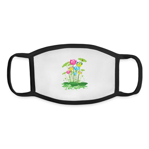 colorful waterlilies flowers - Youth Face Mask