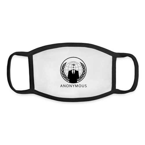 Anonymous 1 - Black - Youth Face Mask