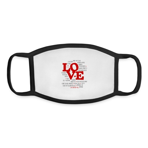 Love by 1 Corinthians 13 - Youth Face Mask