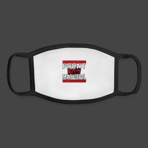 Front Row Material Logo - Youth Face Mask