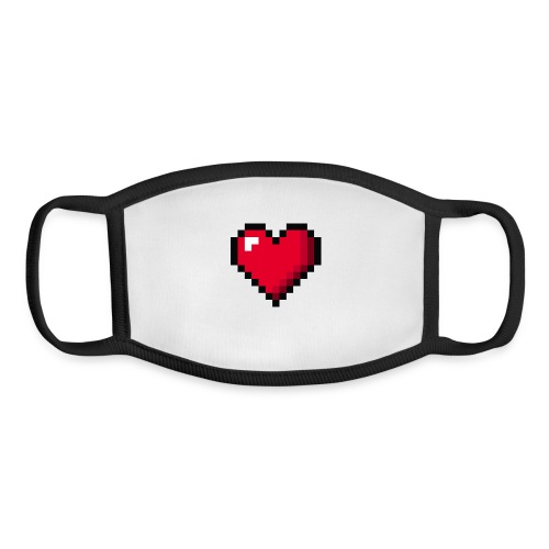 Pixel 8 bit Happy Valentine s Day Heart for Gamers - Youth Face Mask
