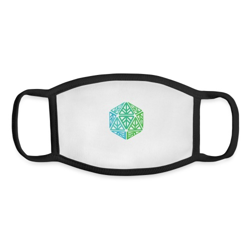 Green Leaf Geek Iconic Logo - Youth Face Mask
