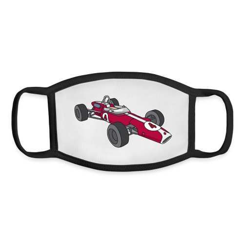 Red racing car, racecar, sportscar - Youth Face Mask